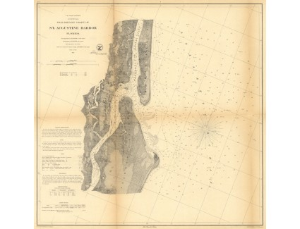 St. Augustine Harbor, 1862, U.S. Coast Survey, Huger & Dorr