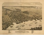 Jacksonville, 1876 birds eye view, Alvord, Kellogg & Campbell