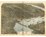 Jacksonville, 1893 birds eye view, Koch
