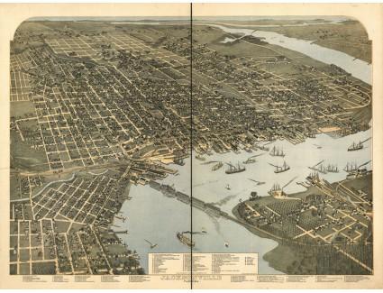 Jacksonville, 1893 birds eye view, Koch
