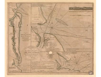 Amelia Island, 1770, Jefferys, after De Brahm and Fuller