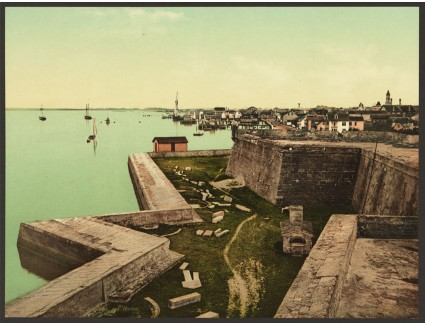 Hand Colored Photo of The Castillo de San Marcos