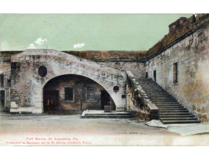 Interior stairs of Fort Marion