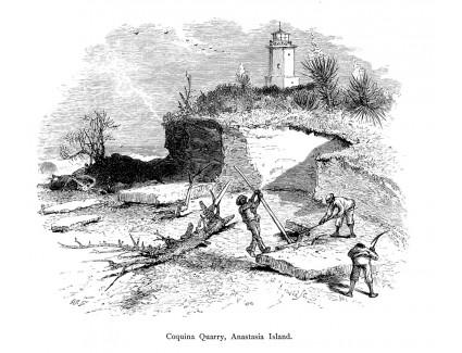 Coquina Quarry on Anastasia Island
